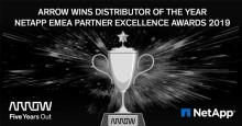 Arrow Electronics vinner Distributor of the Year Award på NetApp EMEA Partner Excellence Awards 2019