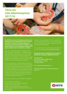 Inbjudan Lilla Säkerhetspriset 2017-2018
