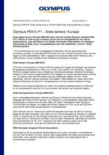 Olympus PEN E-P1 – Årets kamera i Europa!