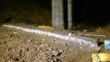 Borrad spontvägg som vattendelare