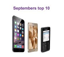 De 10 mest solgte mobiler i september