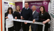 Local MP Mark Spencer joins Vision Express to officially open its new optical store at Tesco in Hucknall