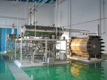 Pilot plant for research in the use of hydrogen in industrial processes