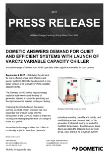 Dometic Answers Demand for Quiet and Efficient Systems with Launch Of VARC72 Variable Capacity Chiller