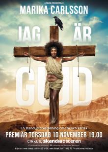 """Marika Carlsson """"Jag är Gud"""" - En standupföreställning om tro och kärlek"""