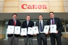 Canon anerkjennes for energieffektivitet og innovasjon ved BLIs prisutdeling 2013
