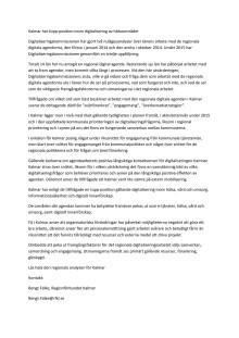 Digitaliseringskommissionens pressmeddelande om utvärderingen av arbetet med den regionala digitala agendan i Kalmar län