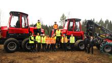 Nya skogsmaskiner en viktig del av maskinförarutbildningen
