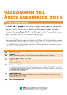 Program Årets Energikick 2015