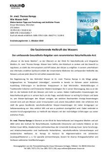 """Pressemitteilung Rampp """"Wie Wasser heilt"""""""