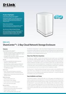 Produktblad - ShareCenter+ (DNS-327L)