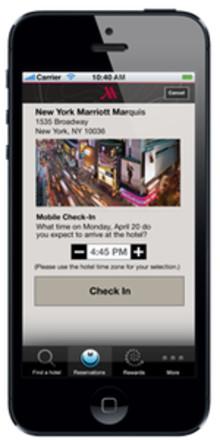 Marriott utökar mobil in-checkning till Sverige