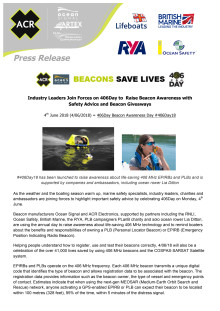 Industry Leaders Join Forces on 406Day to Raise Beacon Awareness with  Safety Advice and Beacon Giveaways