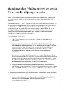 Utvidgningen av handlingsplanen mot oseriös försäljning