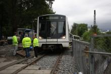 T-banen vedlikeholder skinnegang ved Frøen