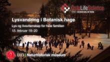 Lysvandring i Botanisk hage
