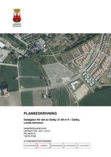 Planbeskrivning av ny skola i Dalby