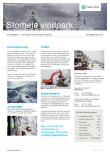 Nyhetsbrev Storheia vindpark #2-2016