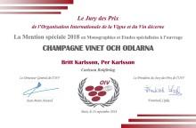 Champagne –Vinet och odlarna: premierad av OIV och Gourmand International!