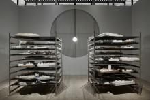 ArkDes nya utställningsrum och utställningen Modellarkivet.