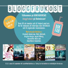 Påminnelse: Välkommen till Bokfabrikens bloggfrukost på Bokmässan!
