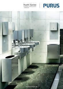 Rostfri sanitet med snygg design för optimal hygien