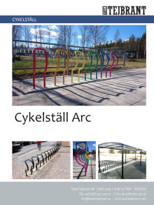 Produktblad Cykelställ Arc