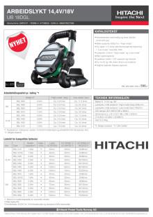 Hitachi arbeidslykt UB18DGL 14,4/18V - Tool Only