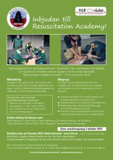 Resuscitation academy 17-18 November 2015
