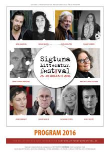Sigtuna Litteraturfestival 2016 - Programblad