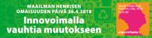 Maailman henkisen omaisuuden päivä | 26.4.2018 Hämeenlinna
