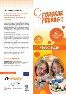 Program ForskarFredag Västerås 2013