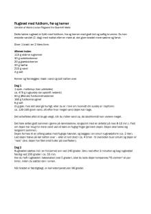 Rugbrød med fuldkorn , frø og kerner