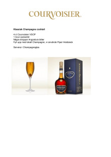 Courvoisier - champagnecocktail