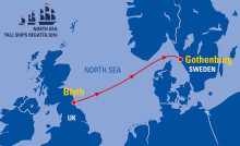Stena Line und Stena Bulk Hauptpartner der North Sea Tall Ships Regatta Göteborg 2016