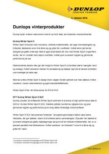 Dunlops vinterprodukter
