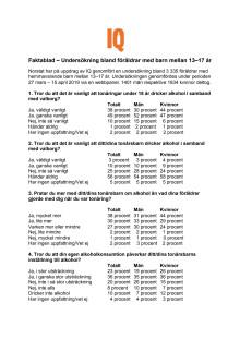 Faktablad valborg 2019