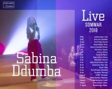 Sabina Ddumba på omfattande sommarturné