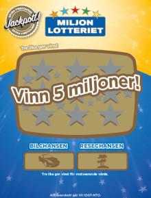 Inga-Lena från Laholm vann 100 000 på skraplott från Miljonlotteriet