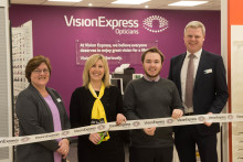 Charity ambassador joins Vision Express to officially open optical store at Carrickfergus Tesco