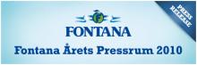 Fontana utsedda till Årets Pressrum 2010 i kategorin Livsmedel