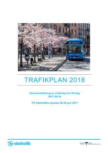 Trafikplan 2018 Västtrafik
