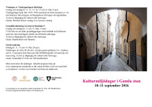 Program Kulturmiljödagar i Gamla stan 10-11 september 2016