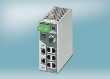 Profinet kompatibel switch med smalt design