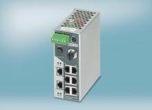 Profinet kompatibel switch med smalt design