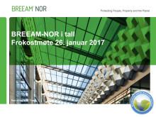Innlegg: BREEAM-NOR og tallenes tale, NGBC, 26.01.17
