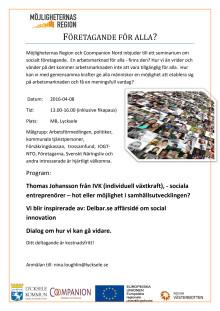 Inbjudan till Socialt företagande