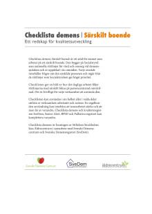 Checklista demens särskilt boende