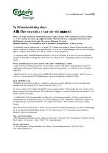 Allt fler svenskar tar en vit månad