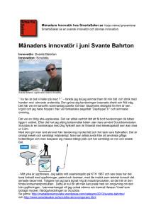 Månadens innovatör hos smartasaker i juni Svante Bahrton